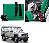 Auto Pearl - Premium Make Green Black Car Pet Single Seat Cover For - Toyota Land Cruiser