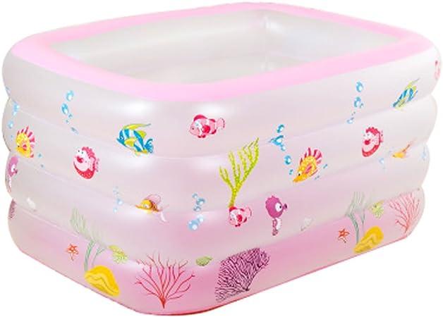 Ajzgf Grande Baignoire Gonflable De Bebe De Piscine De Bebe De Gommage Carre De 4 Couches Rose Baignoire Amazon Fr Cuisine Maison