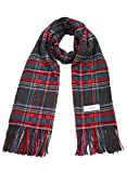 Gray X Red 100% Cashmere Plaid Shawl Stole Men's 2017 Gift Scarves Wrap Blanket B0524B2-5