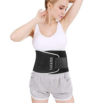 8b6e21766e Amazon.com  Sweat Waist Trimmer Belt for Women and Men Weight Loss ...