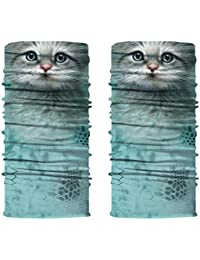 Scarf Outdoor Sunscreen Headwear Sports Breathable Bandana Dust Headwarp Women Cat