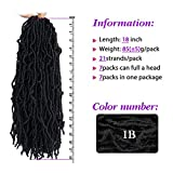 Saimisu New Faux Locs Crochet Hair 18 inch Natural