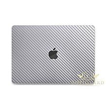 SopiGuard Silver Carbon Fiber Full Body Vinyl Skin Apple Macbook Pro 13 No Touch Bar 2016