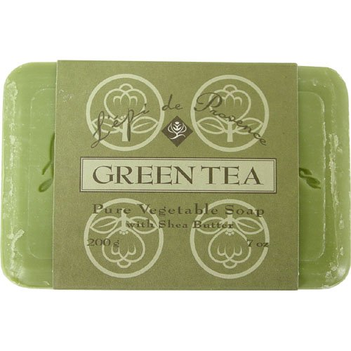 L Epi Provence - L'epi de Provence Triple Milled Green Tea Shea Butter Vegetable Soaps from France 200g