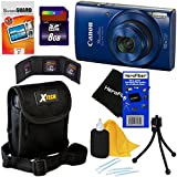 Cheap Canon PowerShot ELPH 190 IS Digital Camera with 10x Zoom, 720p HD video and Built-In Wi-Fi, Blue (International Version) + 7pc 8GB Accessory Kit w/ HeroFiber Ultra Gentle Cleaning Cloth