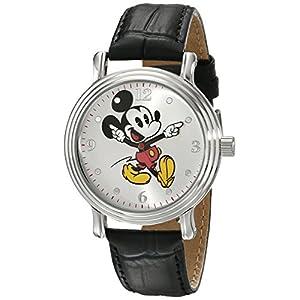 Disney Women's W001872 Mickey Mouse Analog Display Quartz Black Watch