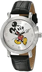 Disney Women's W001872 Mickey Mouse Analog Display Quartz Black Watch