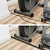 """D-Line CC-1 Light Duty Floor Cord Cover/Cable Protector   Protect Cords and Prevent a Trip Hazard   6 Foot Length   Cable Cavity 3/4"""" (W) x 3/8"""" (H)   Black"""