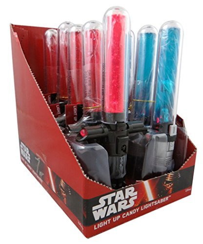 Disney Star Wars Light Up Cross Guard Lightsaber Candy Suckers, Assorted Fruit (Pack of 10)]()