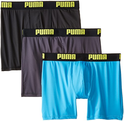 PUMA Men's 3 Pack Boxer Brief, Bright Blue, X-Large (Microfiber Men Boxer Briefs)
