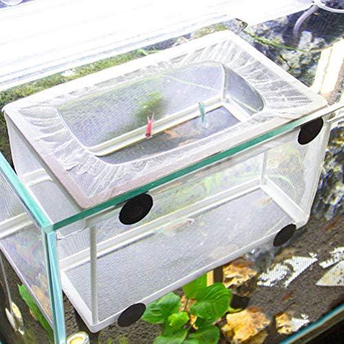 POPETPOP Fish Nursery for Aquarium-Fish Breeding Net Hang on Breeder Box-Large Size