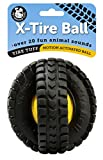 Pet Qwerks X Tire Ball Dog Toy with Animal Noises, Makes Barnyard Sounds When Touched