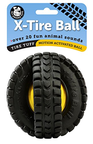 - Pet Qwerks X Tire Ball Dog Toy with Animal Noises, Makes Barnyard Sounds When Touched