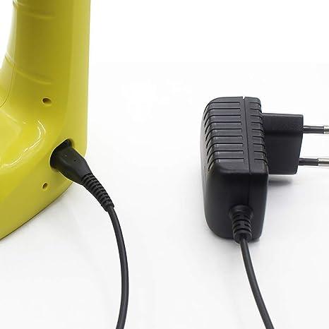 TOOGOO Enchufe De La UE, Cable del Cargador De Batería del Aspirador del Vidrio De La Ventana del 1.5M para Karcher Wv2 / 50/60/70: Amazon.es: Hogar