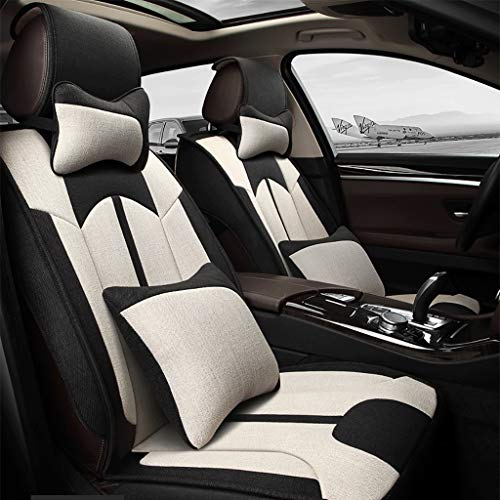 (Gaoye Car Seat Cushion, 4 Seasons Universal Five-seat Universal All-Around Synthetic Fiber Material, Available in A Variety of Colors (Color : Light Beige))