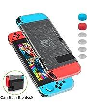 Nintendo Switch Hülle – Kratzfreie, hauchdünne Schutzhülle mit 6 Stick Aufsätzen für Nintendo Switch Konsole und Nintendo Switch Joycon Controller, Passt ohne Entfernen auf das Dockingstation.