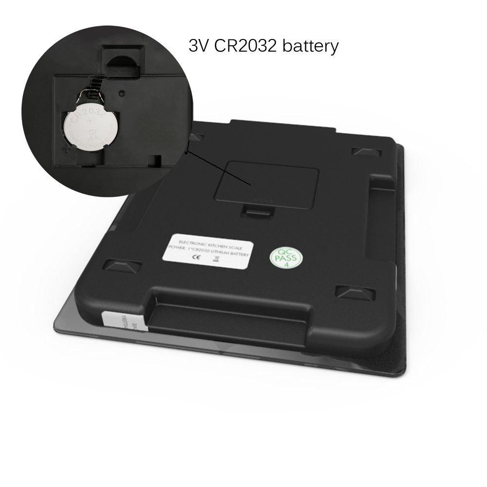 DBPOWER Báscula digital de cocina de 11lb/5000g, resolución de 0,1 oz, báscula para medir múltiples funciones en la cocina con alta precisión sensible al ...