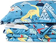 Bedsure Kids Twin Full Queen Bedding Sets for Boys, Dinosaur Cartoon Bedding, 5/7 Pieces Bed in a Bag, Easy Ca