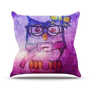 Kess InHouse iRuz33 Showly Outdoor Throw Pillow, 16 by 16-Inch