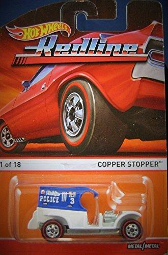 2015 Hot Wheels Redline Copper Stopper 1 of 18 Blue and White