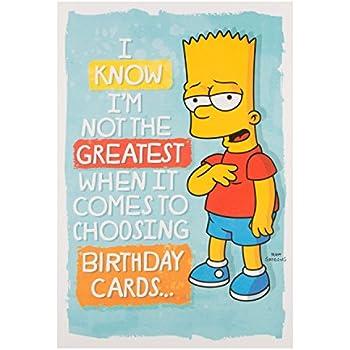 Amazon Simpsons Birthday Humour Funny Hallmark New Card Woo