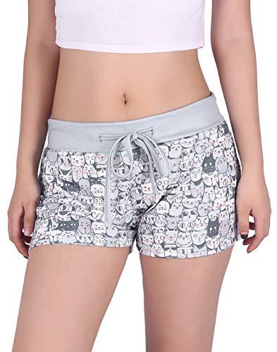 (HDE Plus Size Lounge Shorts Plus Size Sleep Shorts PJ Bottoms, 2X)