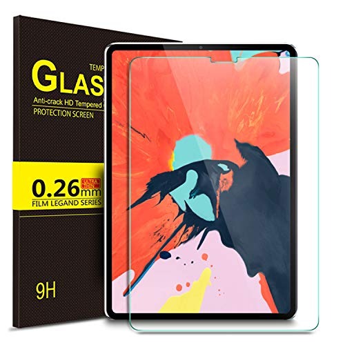 IVSO Screen Protector for ipad pro 11, 9H Hardness HD Clear Tempered Glass Screen Protector Fit for Apple New iPad Pro 11 2018 Release (Compatible with Apple Pencil and Face ID) (Clear)