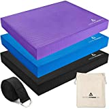 Therapist Recommended Balance Pad & Stretching Kit. Thick Eco-Friendly Foam, Best For Yoga, Workout Training and Physical Therapy Exercises.