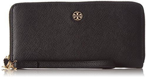 Tory Burch Women's Perry Zip Passport Continental Wallet, Black, One Size ()