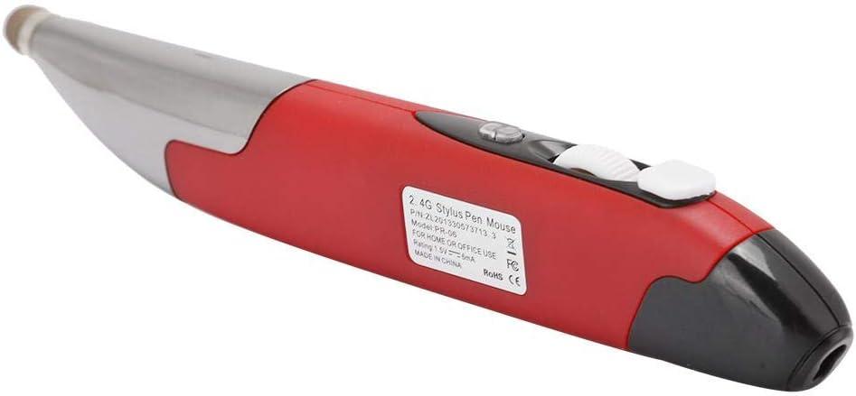 03 Souris sans Fil 2.4G, Souris Intelligente avec Commande vocale, Ergonomique pour Regarder des Films/TV(Red) red
