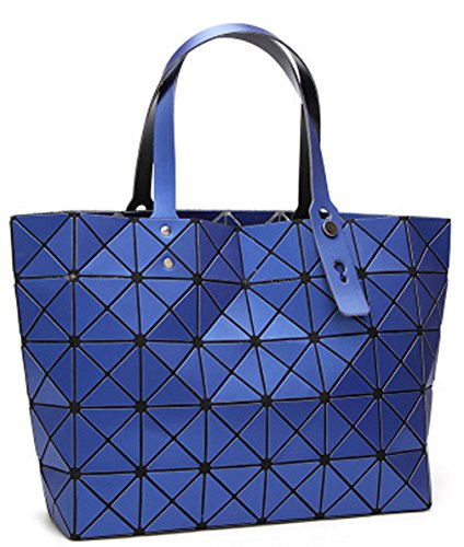 Shoulder for Women's OYIGE Blue Women handbag package Bags Folding Laser diamond Geometric q1Ew1x