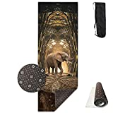 Bghnifs Sculpture Elephant Printed Design Yoga Mat Extra Thick Exercise & Fitness Mat Fit Yoga,Pilates,Core Exercises,Floor Exercises,Floor Exercises