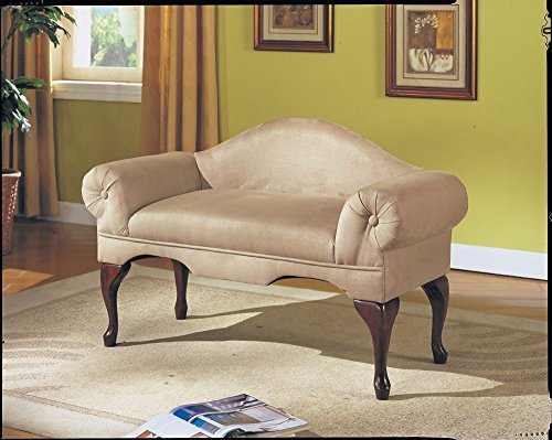 New Bedroom Bench With Microfiber Fabric Upholstery With