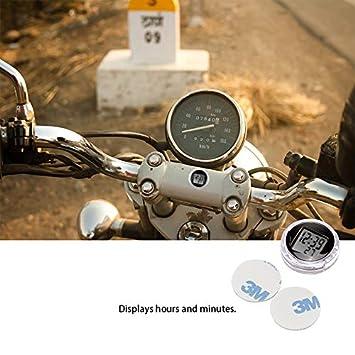 1 PCS Motorrad Motorrad Uhr Konesky Mini Pocket Universal Stick-On Motorrad Digitaluhr Uhr mit Stoppuhr Funktion IP64 Wasserdicht