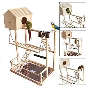 Amazon Com Qbleev Bird S Nest Stand Parrot Playground