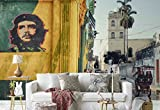 Photo wallpaper wall mural - Che Guevara Graffiti Narrow Street People - Theme Travel & Maps - XL - 12ft x 8ft 4in (WxH) - 4 Pieces - Printed on 130gsm Non-Woven Paper - 1X-1201268V8
