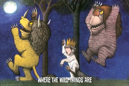 Where The Wild Things Are - Under The Moon Poster Print