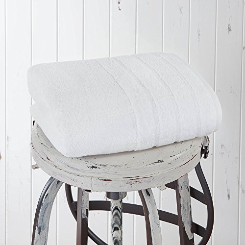 Luxury Bath Towel, Made in the USA with 100% Cotton from Africa – Made Here by 1888 Mills, White