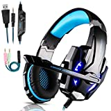 Igrome Gaming Headsets PS4, 3.5mm Stereo Wired Over-Head Gaming Headphone with Noise Canceling Mic & Volume Control,Over Ear Gaming Headphone for PC/Mac/PS4/Xbox 1/Nintendo Switch