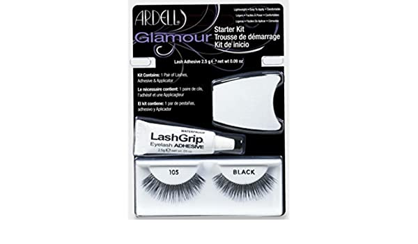 3b6230b0e69 Amazon.com : Ardell Glamour Lashes Starter Kit (105 Black) : Beauty