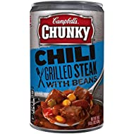 Campbell's Chunky Chili, Grilled Steak with Beans, 19 Ounce (Pack of 12)