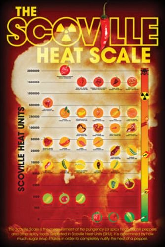 Scoville Heat Index Scale - Peppers wall decorations - pepper wall art