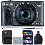 Canon Powershot SX730 HS Digital Camera (Black) with 32GB Accessory Kit