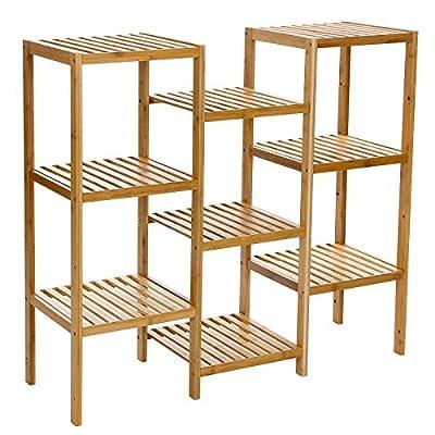 SONGMICS 100% Bamboo Storage Shelf
