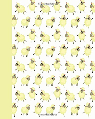 Download Sketchbook: Baby Sheep (Yellow) 8x10 - BLANK JOURNAL WITH NO LINES - Journal notebook with unlined pages for drawing and writing on blank paper (8x10 Baby Animals Sketchbook Series) ebook