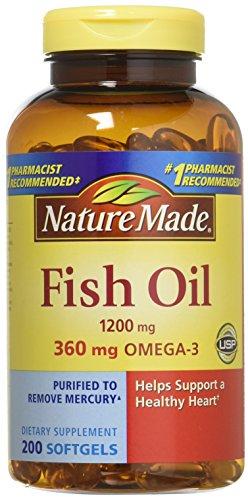 Pack of 2 Nature Made Fish Oil 1200 Mg  200 Liquid Softgels