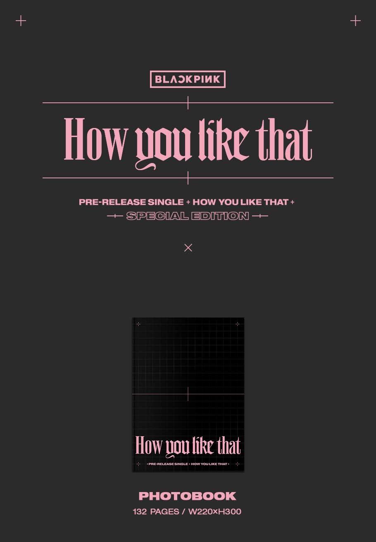 edici/ón especial doble cara Blackpink /Álbum de fotos con texto en ingl/és How You Like That cartel plegado+tarjeta de holograma