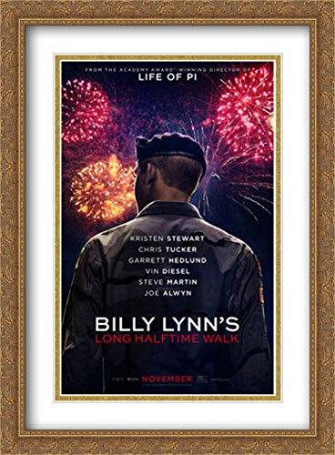 Billy Lynn's Long Halftime Walk 28x38 Double Matted Large Large Gold Ornate Framed Movie Poster Art Print