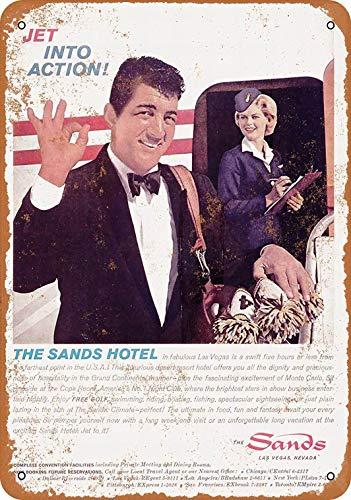 Amazon Com Fsdva 8 X 12 Metal Sign Dean Martin The Sands Hotel