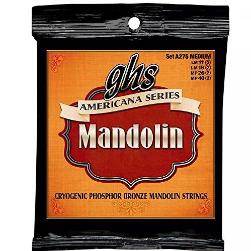 GHS Americana Series Mandolin Strings Medium 11-40 (3 Pack Bundle)